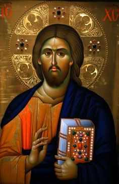 Christ Pantocrator Icon at Aghiou Pavlou Monastery on Mount Athos : Custom Wall Decals, Wall Decal Art, and Wall Decal Murals   WallMonkeys.com