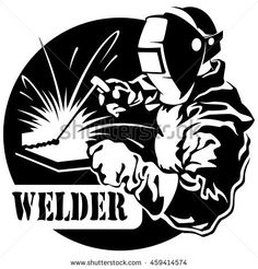 Illustration about Welder working in the mask in the weld metal sparks vector. Illustration of worker, done, industrial - 57664341 Welding Logo, Welding Design, Metal Welding, Welding Art, Welding Crafts, Welding Tips, Welding Ideas, Welding Certification, Shielded Metal Arc Welding