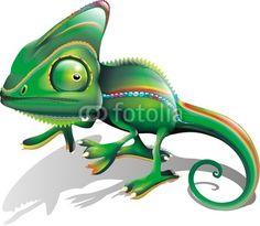 #Chameleon #Cartoon! © bluedarkat #21670861 -         http://us.fotolia.com/id/21670861/partner/200929677