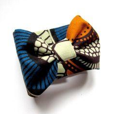 Bracelet en wax, bracelet en tissu africain, bracelet noeud papillon