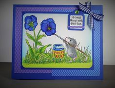 #cre8time to paint a posie or two  with House-Mouse designs like this one from Amy Hurley-Purdie.