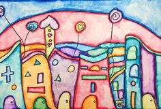 Hannah18889's art on Artsonia- Hundertwasser Houses