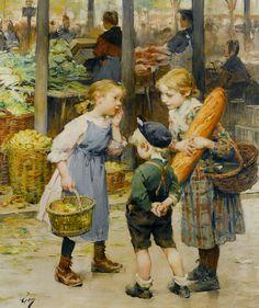 Henri Jules Jean Geoffroy Les petites ménagères