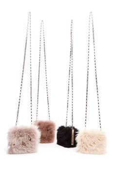 Petite fur bags by Michael Kors