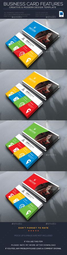 Colourful Business Card — Photoshop PSD #photography #red • Available here → https://graphicriver.net/item/-colourful-business-card/17740499?ref=pxcr