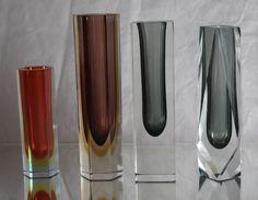Selection of Murano Block Vases.