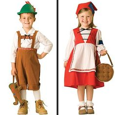 cutest Hansel and Gretal costumes ever!  But I would change Gretal colours so that she doesn't look like LRRH