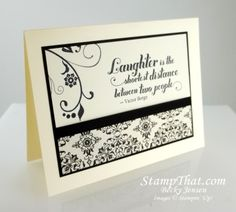 Stampin' Up! Flowering Flourishes stamp with the new Typeset DSP on cream cs.