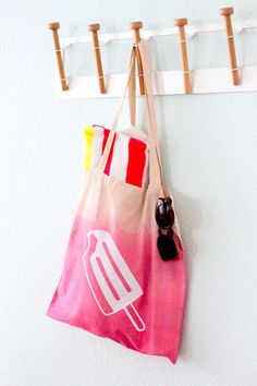DIY Ombre Popsicle Tote Bag