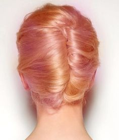 Peach hair updo. I wish I knew how to do this style.