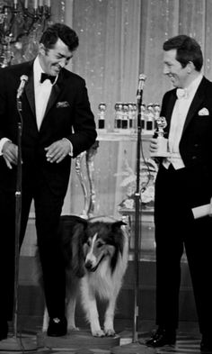 Dean Martin, Lassie and Andy Williams at the Golden Globes, 1970 / as1966