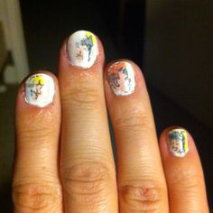 My try at the newspaper print...next time I'll leave the comic on longer, but cute until my new polish comes in!!