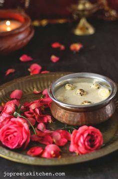 Puffed Lotus Seeds / Makhana Kheer (using Jaggery)  http://www.jopreetskitchen.com/2013/11/puffed-lotus-seeds-makhana-kheer-using.html