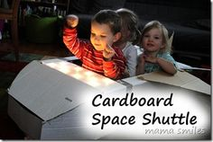 Cardboard space shuttle #Earthday