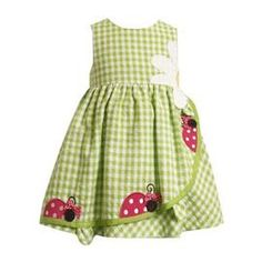 lady bug gingham dress screams spring: