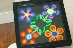 Hama beads flower pattern by madpolka on Etsy, $80.00
