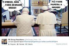 Papa Benedetto vs Papa Francesco 1 a 0.......