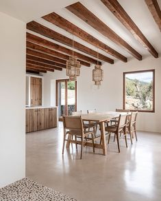 OD House, Alaro by Jorge Bibiloni - Spain based firm. Finishes are made up of micro cement, wood and stone. Interior Design Kitchen, Interior And Exterior, Interior Decorating, Exterior Paint, Exterior Design, Interior Inspiration, Home And Living, Interior Architecture, Living Spaces