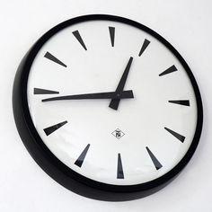 Vintage German Industrial Clock. Telefonbau und Normalzeit, Hamburg, Germany. 1960s.