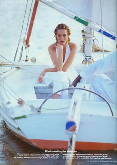 """Tatjana Patitz in """"Easy Pieces of the Great Escapes"""" by Patrick Demarchelier for Vogue UK April 1992"""