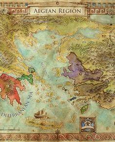 Aegean Regional Map (Swords of Kos Fantasy Campaign Setting) - Skirmisher Publishing | Swords of Kos Fantasy Campaign Setting | DriveThruRPG.com