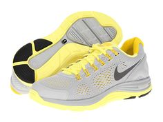 Nike Lunarglide+ 4 Wolf Grey/Pink Force/Pearl Pink/Anthracite - Zappos.