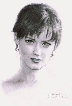 Alexis Bledel ©2011-2012   FrankGo  Sketch / Quick Draw  Mech.Pencil 2B & Pencil 4B on Paper