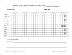 Homeschool Record Keeping Forms
