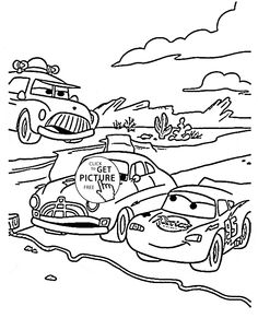 Track Race Cars Coloring Page For Kids Disney Pages Printables Free