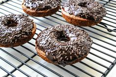 Baked Banana Bread Donuts | And did I mention these are healthy?  The donuts are whole wheat and obtain most of their moist texture from mashed bananas instead of butter. There is a touch of oil, but not much.  And you can make the donuts sugar free if you use Splenda.