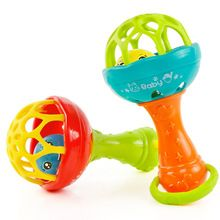 Baby Sensory Gross Skills Musical Toy Maracas Colorful Beads Sounds Pom-Poms NEW