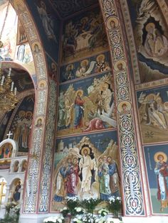 Art Commissions, Christ Is Risen, Church Interior, Byzantine Icons, Orthodox Icons, Religious Art, Art And Architecture, Fresco, Christianity