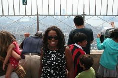 Star Jones visited the 86th floor and 102nd floor Observatories today and enjoyed the views of Manhattan and beyond.