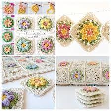 Resultado de imagem para flower granny square free pattern bags