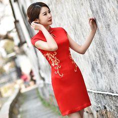 chinese clothing high collar cheongsam            https://www.ichinesedress.com/