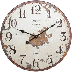Dupont Wall Clock - love the distressing.