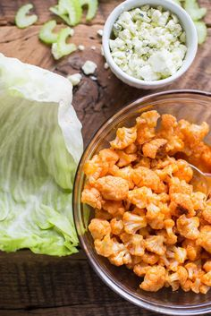Recipe: Buffalo Cauliflower Lettuce Wraps — Lunch Recipes from The Kitchn | The…