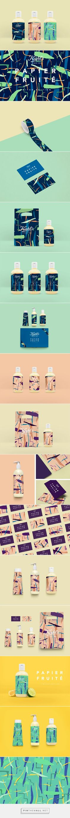 Kiehl's - Papier Fruité , Packaging and Branding Brand Identity Design, Corporate Design, Graphic Design Typography, Corporate Identity, Packaging Box Design, Label Design, Package Design, Fruit Packaging, Web Design