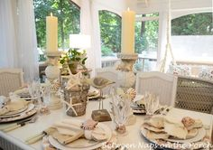 tablescapes ideas | Day, to add wood patterned paper runner to her Summer tablescape ...