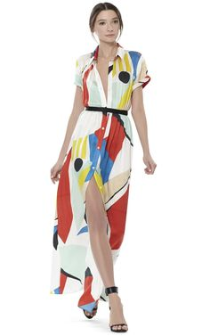 ARLEN MAXI SHIRT DRESS