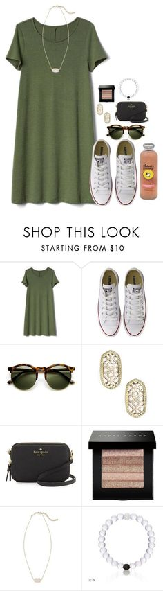 """Going to Orlando for the day;)"" by flroasburn ❤ liked on Polyvore featuring Gap, Converse, Kendra Scott, Kate Spade, Bobbi Brown Cosmetics and Hansen"