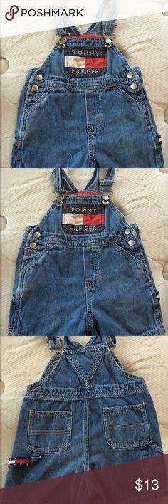 Tommy Hilfiger Unisex Baby Denim Overall 18-24M Tommy Hilfiger Unisex Baby Denim Overall Shorts 18-24 Months Tommy Hilfiger Other