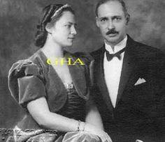 GOFFREDO D'ASBURGO LORENA GRANDUCA DI TOSCANA 1902-1984 CON LA CONSORTE PRINCIPESSA DOROTEA NATA DI BAVIERA