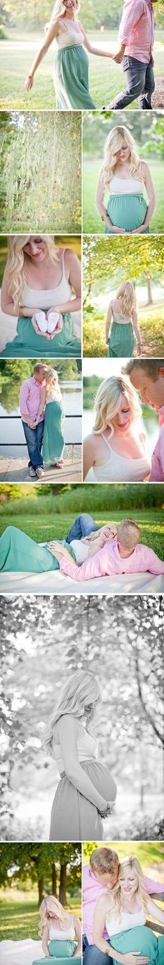 Pastel, outdoors, maternity and pregnancy photography ideas, belly shots.  Tasteful and adorable. Could wear the color (pinks or purples/ blues or greens) for the gender reveal as well. 2 shots in one!