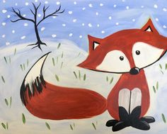 I am going to paint Winter Fox at Pinot's Palette - Ellicott City to discover my inner artist!