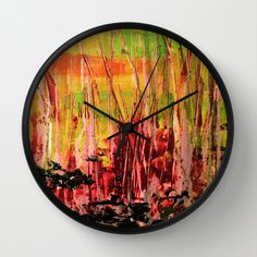 Buy Black Bark by Stephanie Cole CREATIONS as a high quality Wall Clock. Worldwide shipping available at Society6.com. Just one of millions of products…  Black Bark #absractart #birchcollection #forrestfire #cushion #woods #trees #landscape #afterthefire #stephaniecole #canvas #acrylics