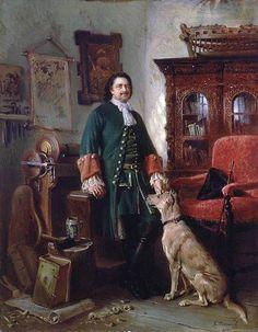 """Peter the Great in His Studio"" by Konstantin  Makovsky (1870). ""AL"""