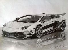 Cool Car Drawings, Art Drawings Sketches, Car Design Sketch, Car Sketch, Mustang Drawing, Car Drawing Pencil, Bengali Art, Sports Cars Lamborghini, Mustang Gt500