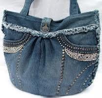 recycled denim handbags - Google Search