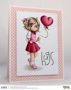 "Make It Crafty image ""Toni Heart Balloon"" - Skin; E000, E00, E01, E11, E71, Hair; E42, E43, E44, E44, Ground; W0, W1, W3, White; C0, C1, C3, Light Pink; RV10, R81, R83, R85, Dark Pink; R83, R85, RV29, R39, C9"
